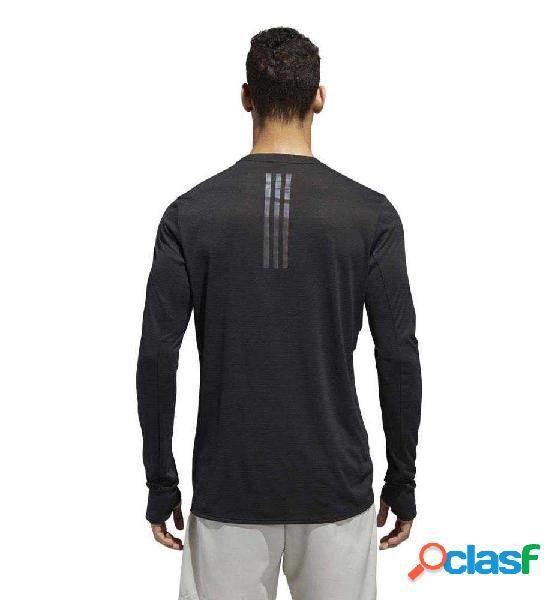 Camiseta M/l Running Adidas Supernova Tee Negro S