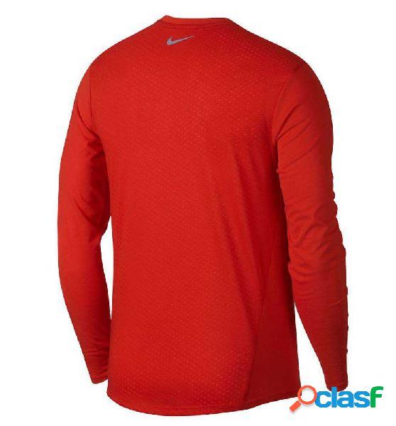 Camiseta M/l Running Nike M´nike Top Breathe Tailwind Rojo