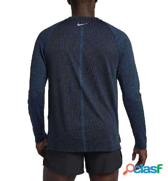 Camiseta M/l Running Nike M´top Dry Medalist Running Azul