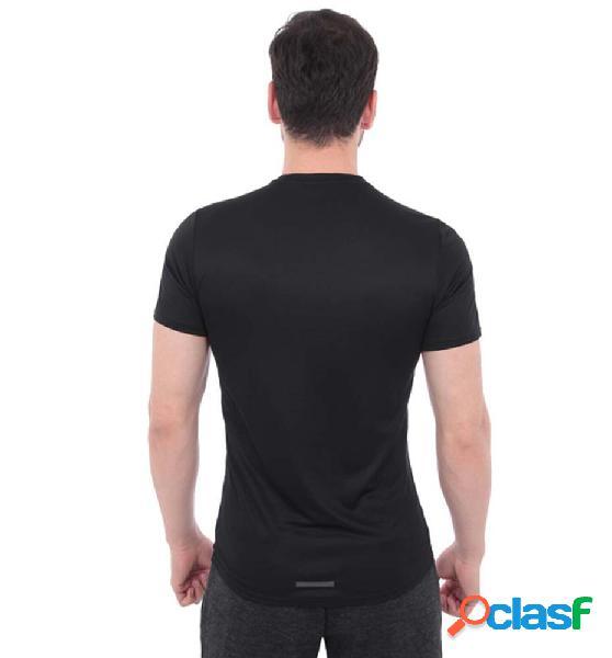 Camiseta Running Adidas 3 Bandas M Negro