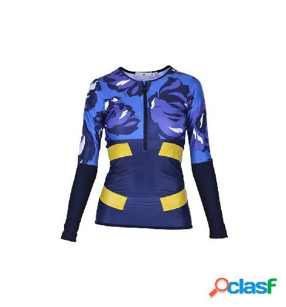 Camiseta Running Adidas Techfit Ls Tee Azul Marino S