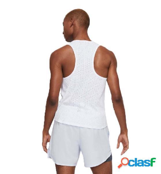 Camiseta Running Nike Aerosiwft Blanco M