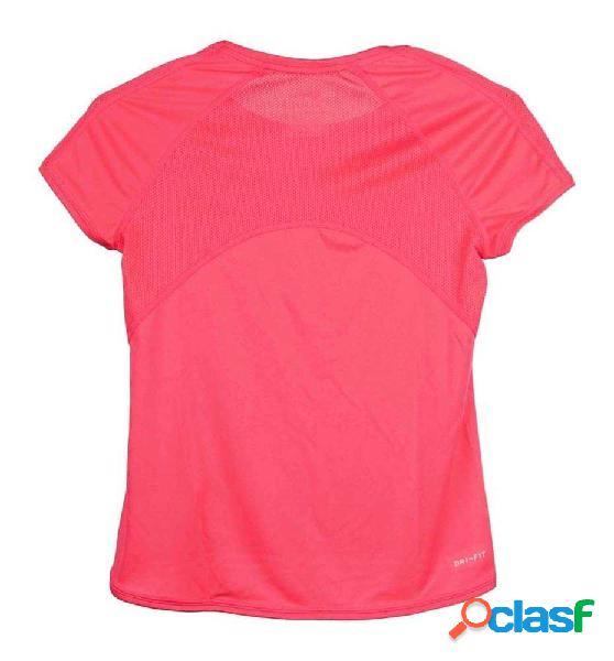 Camiseta Running Nike Girls Nike Dry Top M Rosa