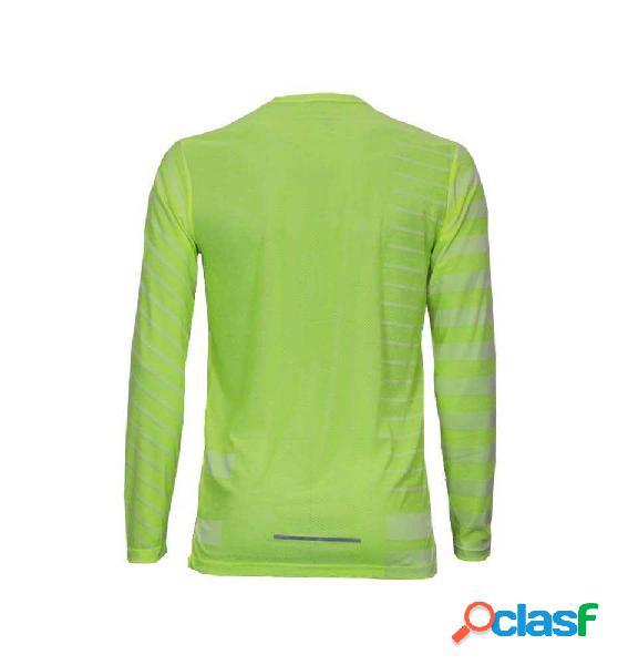 Camiseta Running Nike M Nk Tech Knit Cool Ls M Verde Claro