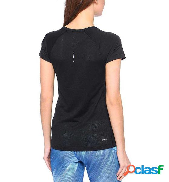 Camiseta Running Nike Womens Nike Dry Miller Top M Negro