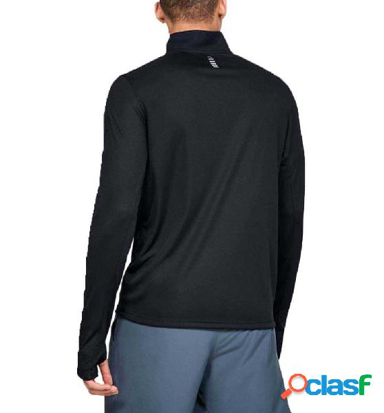 Camiseta Running Under Armour Speed Stride Split 1/4 M Negro
