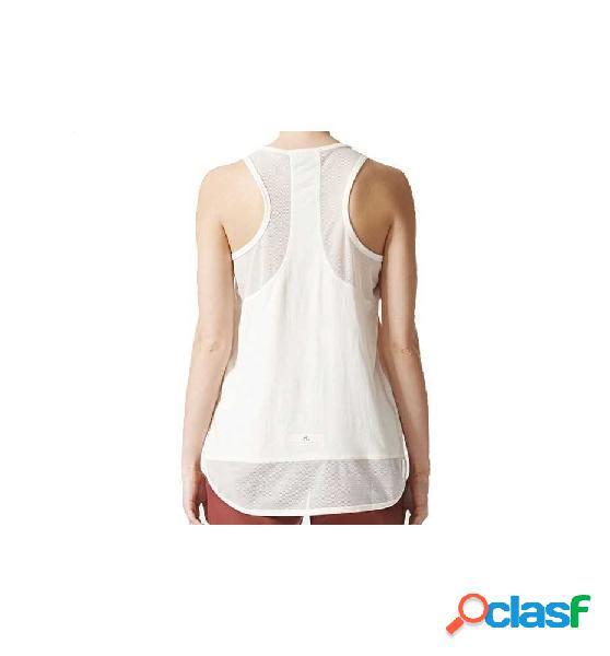 Camiseta Sin Mangas Casual Adidas Ess Leo Blanco S