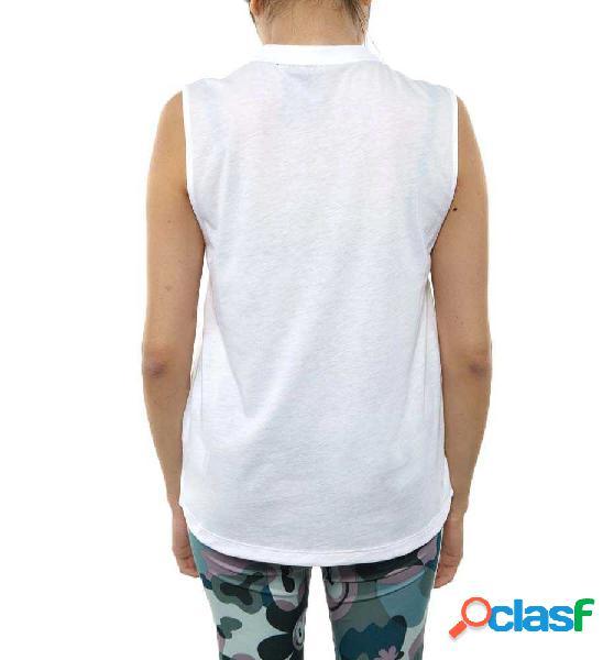 Camiseta Sin Mangas Casual Adidas W Mh Bos Blanco L