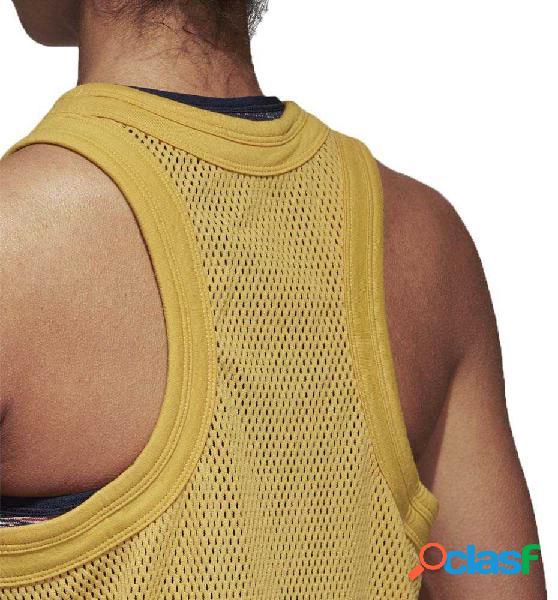 Camiseta Sin Mangas Mujer Adidas Yoga Mesh Tank Amarillo M