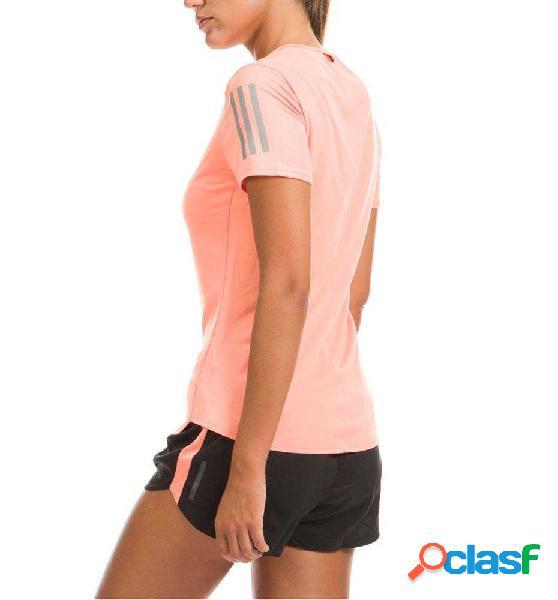 Camiseta Técnica Entreno Running Adidas Rs Ss Tee M Naranja