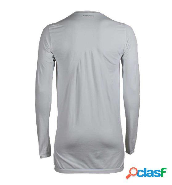 Camiseta Témica Hombre Adidas Techfit Warm Blanca Ml Blanco
