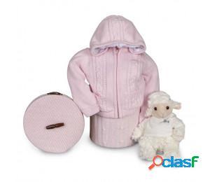 Canastilla bebé happy chaqueta polar rosa