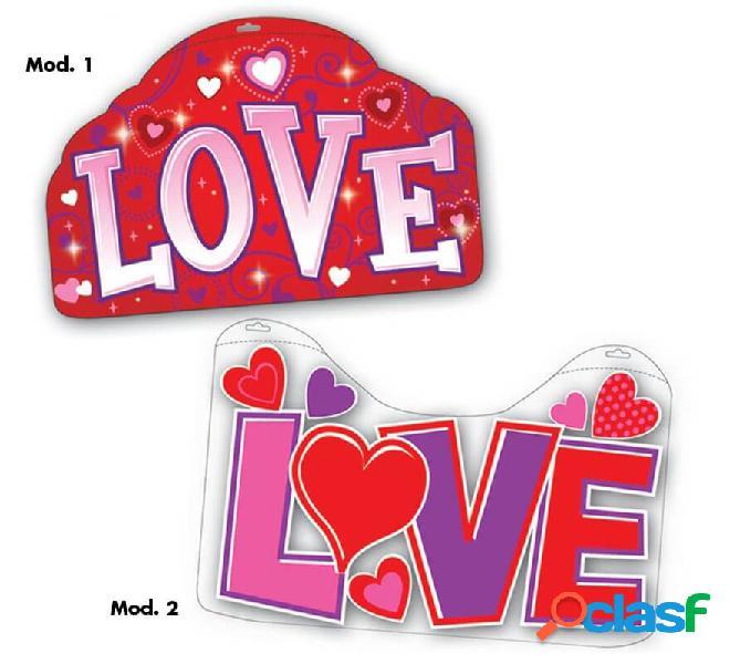 Cartel de decoración Love de 51x33 cm en 2 modelos