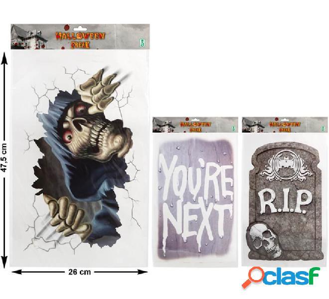 Cartel para Halloween en 3 modelos surtidos 47 cm