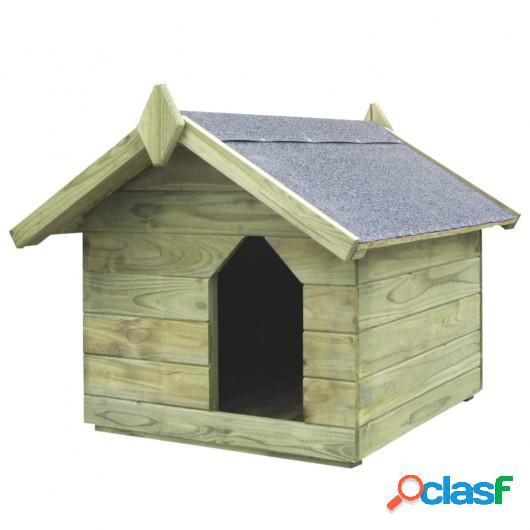 Casa de perro jardín tejado abierto madera pino impregnada