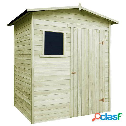 Caseta cabaña de jardín madera de pino impregnada FSC