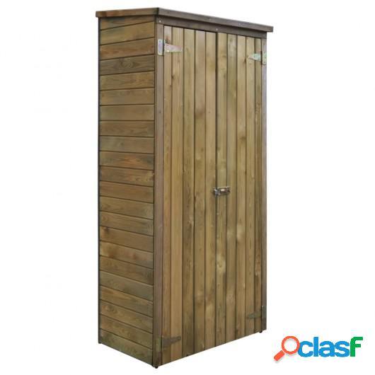 Caseta herramientas de jardín FSC madera de pino 85x48x177