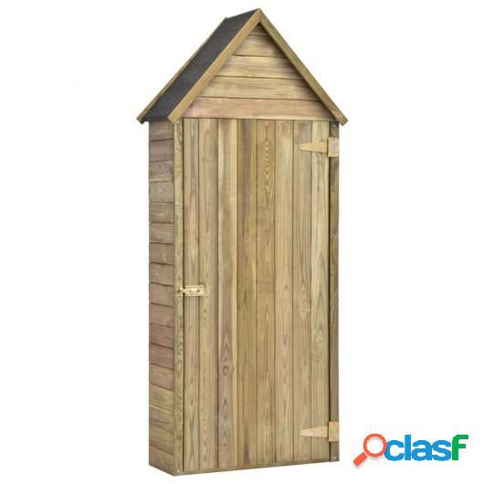 Caseta herramientas jardín con puerta madera pino