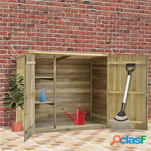 Caseta herramientas jardín madera pino impregnada