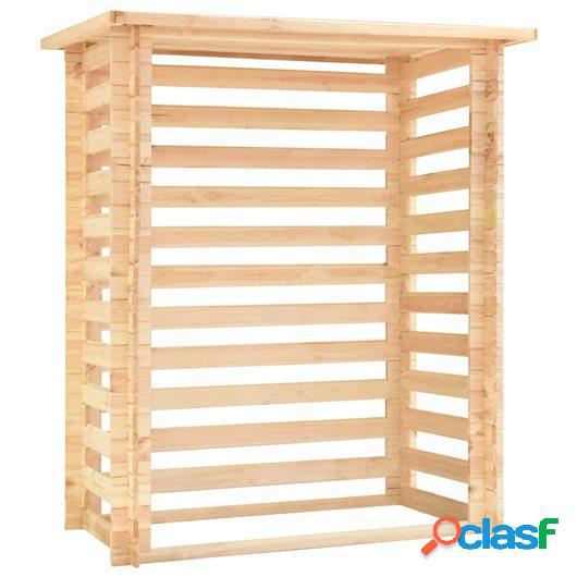 Caseta para leña de madera de pino secada FSC 163x103x193
