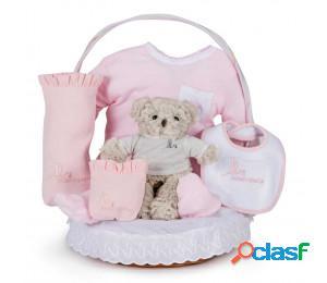 Cesta bebé clásica esencial rosa