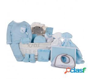 Cesta bebé post hospital plena azul