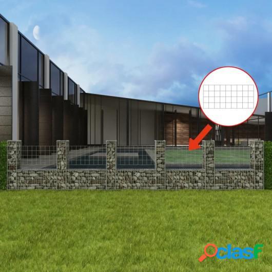 Cesta en forma de U muro de gaviones galvanizado 570x20x100