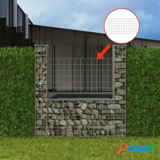 Cesta en forma de U para muro de gaviones 160x20x150 cm