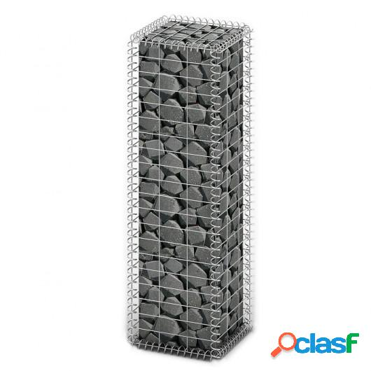 Cesta para muro de gaviones de alambre galvanizado 100x30x30