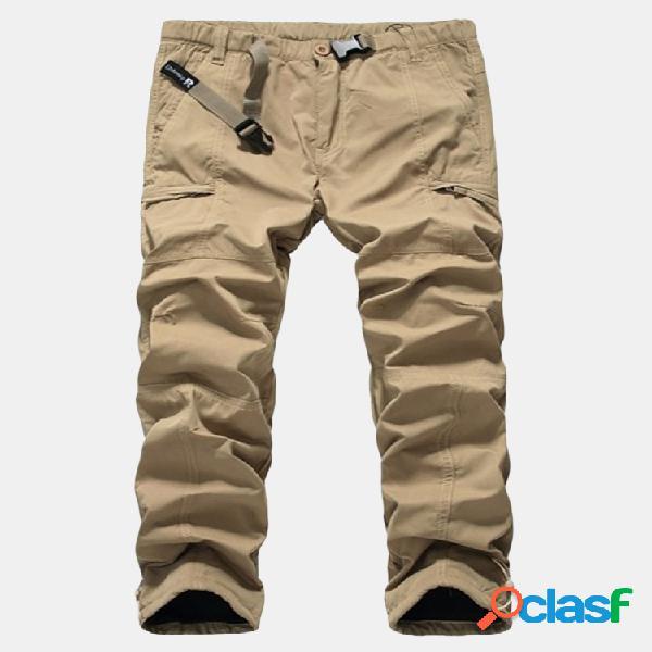 ChArmkpR Pantalones de carga cómodos sueltos gruesos de