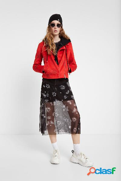 Chaqueta motera floral - RED - 36