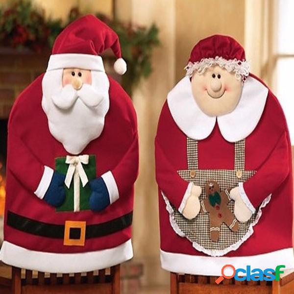 Christmas Santa Claus Chair Covers Cena Cena Decoraciones