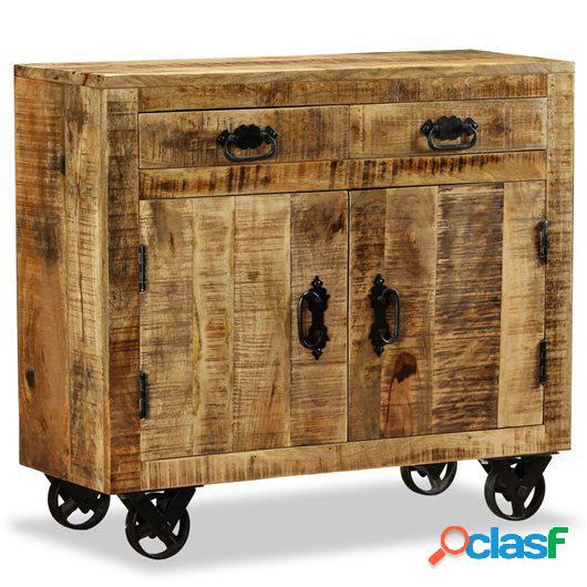 Cómoda con 2 cajones y 1 armario de madera rugosa de mango