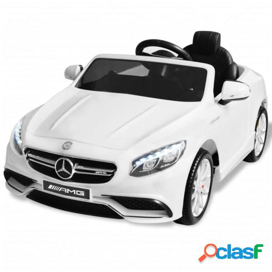 Coche correpasillos eléctrico Mercedes Benz AMG S63 blanco