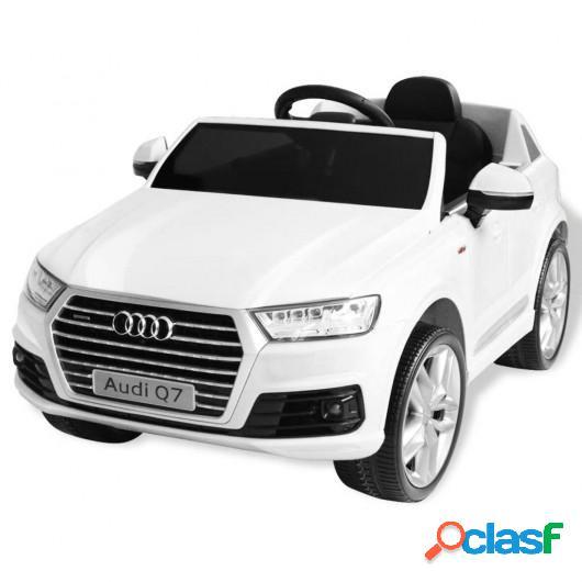 Coche eléctrico Audi Q7 blanco 6 V