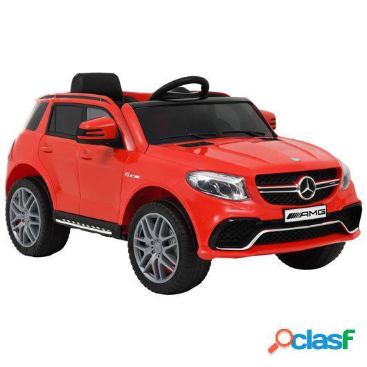 Coche para niños Mercedes Benz GLE63S plástico rojo