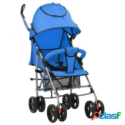 Cochecito sillita paseo de bebé 2 en 1 azul acero