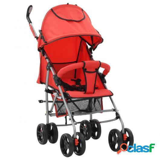 Cochecito sillita paseo de bebé 2 en 1 rojo acero