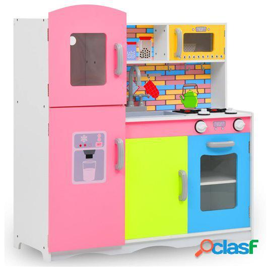 Cocinita de juguete MDF multicolor 80x30x85 cm