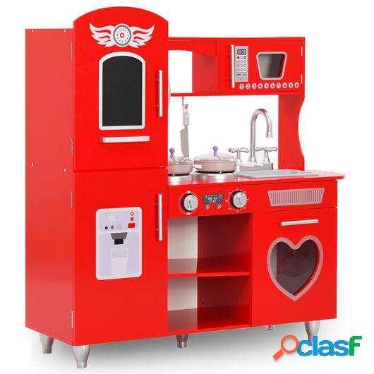 Cocinita de juguete MDF roja 80x31x89 cm