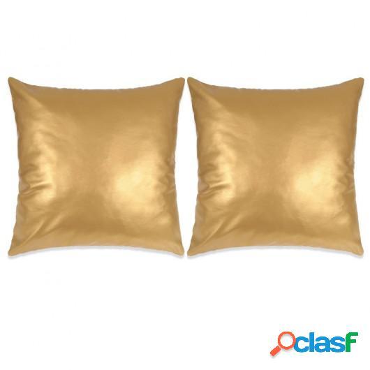 Cojines de polieuretano dorado 60x60 cm 2 unidades