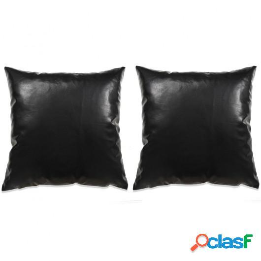 Cojines de polieuretano negro 60x60 cm 2 unidades