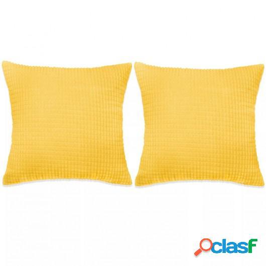 Cojines de terciopelo 60x60 cm amarillo 2 unidades