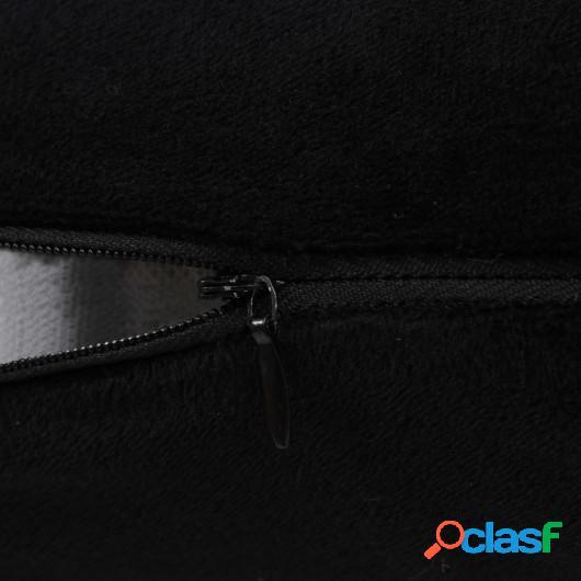Cojines de terciopelo 60x60 cm negro 2 unidades