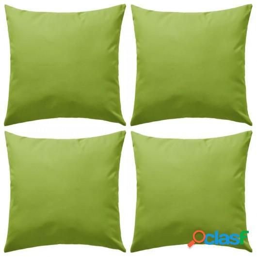 Cojines para exteriores 45x45 cm verde manzana 4 unidades