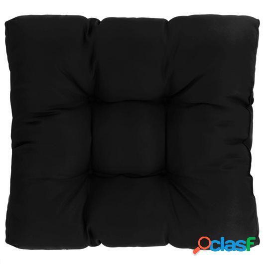 Cojín de asiento de jardín de tela negra 60x60x10 cm