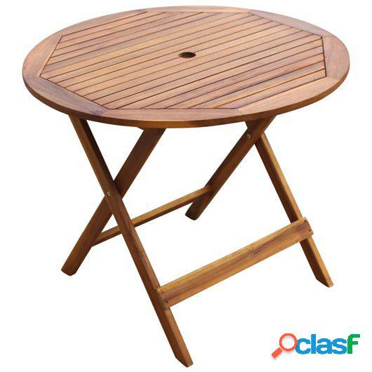 Comedor de jardín plegable 5 piezas de madera maciza de