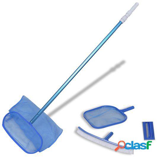 Conjunto De Limpieza De Piscina - Cepillo 2 Recojehojas 1