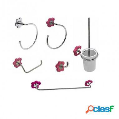 Conjunto accesorios de baño flower - fossil natura