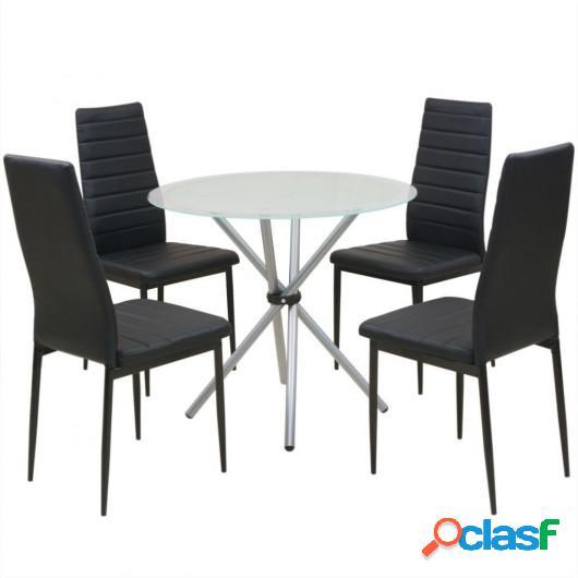 Conjunto de mesas y sillas de comedor de cinco piezas